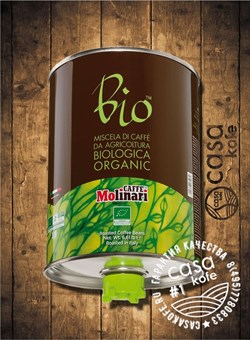 кофе Molinari BIO Organic (Молинари БИО Органик 100% Арабика) в зернах 3кг
