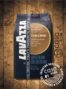 кофе Lavazza Crema e Aroma Espresso (Лавацца Крема Арома Эспрессо) в зернах 1кг