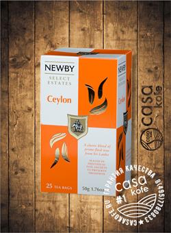 чай Newby Цейлон 25 пакетиков черный 50гр