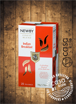 чай Newby Индийский Завтрак 25 пакетиков черный 50гр