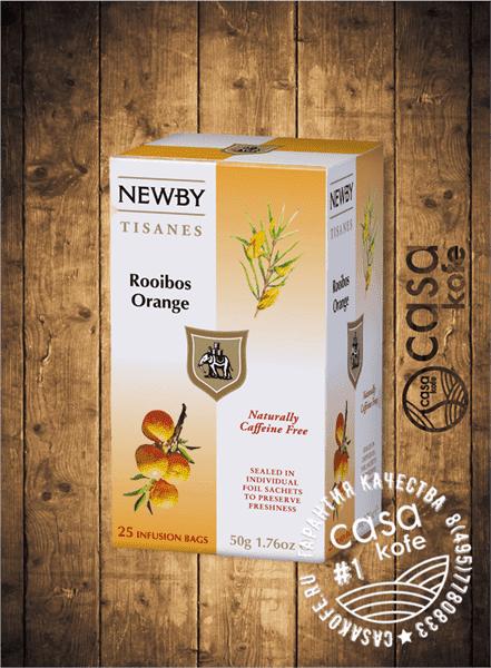 чай Newby Ройбос Апельсин 25 пакетиков фруктовый 50гр