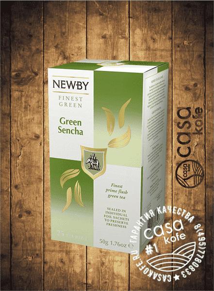 чай Newby Зеленая Сенча 25 пакетиков зеленый 50гр