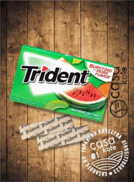Жвачка Trident Watermelon Twist (Тридент Арбуз) 14стиков