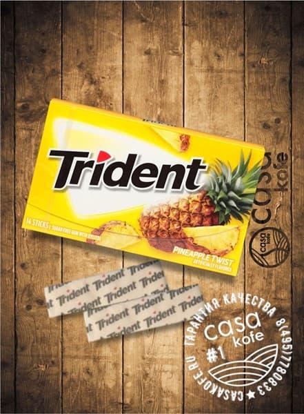 Жвачка Trident Pineapple Twist (Тридент Ананас) 14стиков