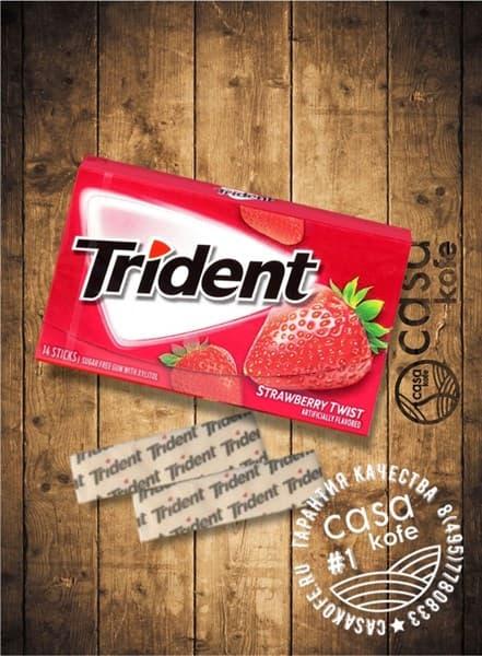 Жвачка Trident Strawberry Twist (Тридент Клубника) 14стиков