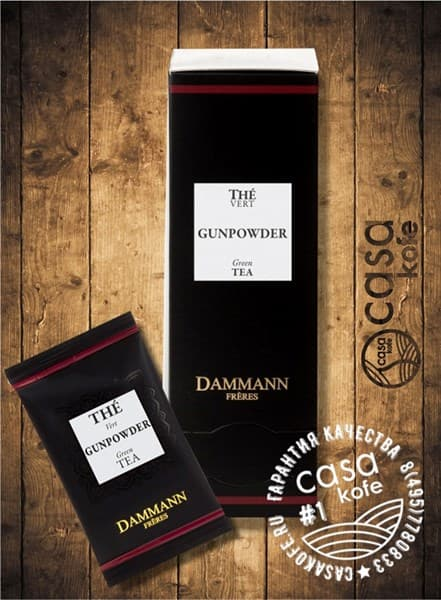 чай Dammann Gunpowder (Порох) 24 пакетика зеленый