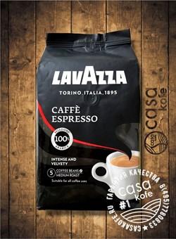 кофе Lavazza Caffe Espresso (Лавацца Эспрессо) в зернах 1кг в новом дизайне