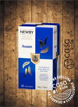 чай Newby Ассам 25 пакетиков черный 50гр