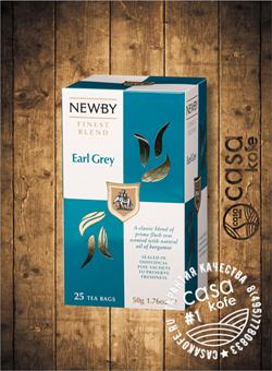 чай Newby Эрл Грей 25 пакетиков черный 50гр