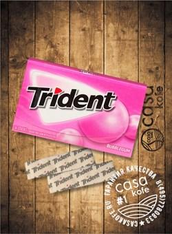 Жвачка Trident Bubblegum (Тридент Баблгам) 14стиков