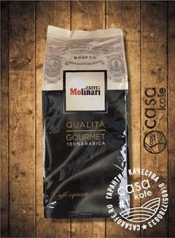 кофе Molinari Gourmet (Молинари Гурме 100% Арабика) в зернах 1кг
