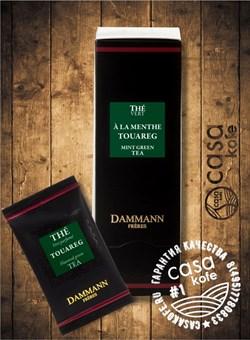 чай Dammann Menthe Touareg (Зеленая мята Туарег) 24 пакетика зеленый