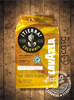 кофе Lavazza Tierra Colombia в зернах 1кг