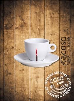 Кофейная пара Kimbo (чашка + блюдце) для капучино, 280 мл
