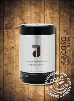 кофе Danesi Doppio (Данези Доппио) в зернах 250гр