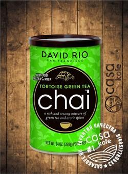Пряный чай-латте Tortoise Green Tea (Черепаховый Зеленый Чай) Chai David Rio 398гр, США