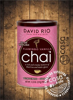 Пряный чай-латте Flamingo Vanilla Chai Decaf Sugar Free DAVID RIO 337 гр, США