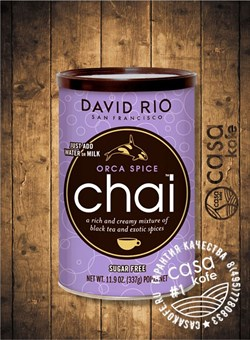 Пряный чай-латте Orca Spice Chai Sugar Free DAVID RIO 337 гр, США