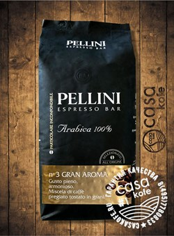 Pellini №3 Gran Aroma 100% Arabica кофе в зернах 1кг